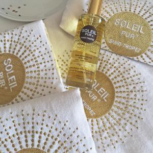 Offre duo fouta tunisienne et huile sèche naturelle Soleil Pur Saint-Tropez