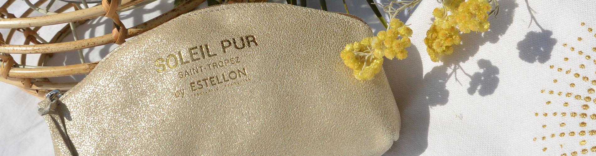 Pochette cuir Soleil Pur by Estellon