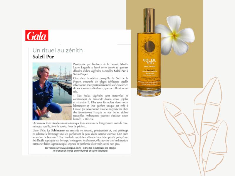 article magazine Gala Soleil Pur Saint-Tropez